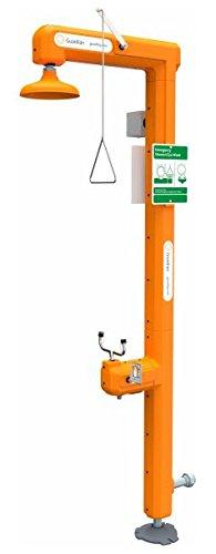Guardian GFR3110 Galvanized Steel Heat Traced Safety Station Bottom Inlet