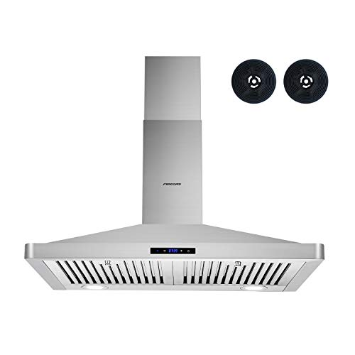 Firegas Wall Mount Range Hood 30 inch,450 CFM Ducted Range Hood with Ducted/Ductless Convertible,Stove Hood Vent for…