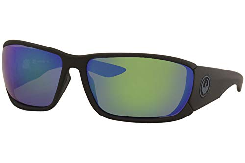 Sunglasses DRAGON DR TOW IN H 2 O 008 MATTE BLACK H2O WITH GREEN ION Polarized L