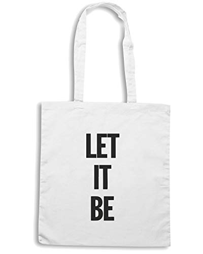 Speed Shirt Borsa Shopper Bianca WC0449 LET IT BE