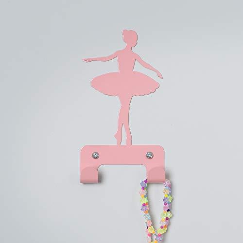 (Designer Metal Wall Hanger, Ballerina Princess Wall Hook - With 2 Hooks)