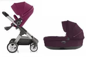 stokke crusi stroller bassinet combo purple baby stroller bassinets baby. Black Bedroom Furniture Sets. Home Design Ideas