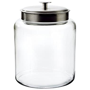 Anchor Hocking Montana 2-Gallon Jar, Brushed Metal Lid