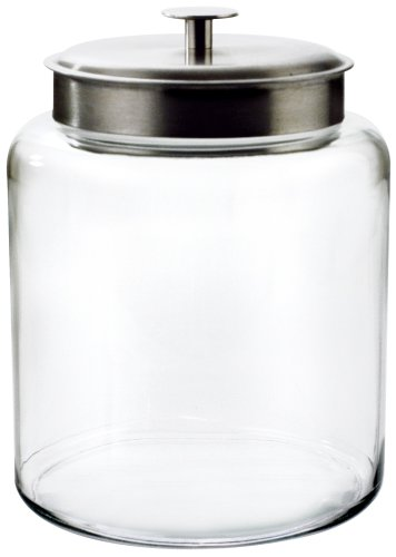 Anchor Hocking Montana 2-Gallon Jar, Brushed Metal Lid (Glass Jars For Cookies compare prices)
