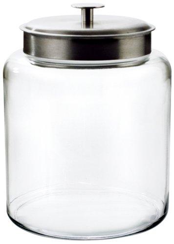 Anchor Hocking Montana 2-Gallon Jar, Brushed Metal