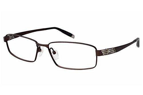 Charmant Z Eyeglasses ZT19821R ZT/19821R BR Brown Full Rim Optical Frame 57mm by - Eyeglasses Z