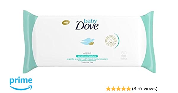 Dove Baby Wipes Sensitive Moisture 50 Wipes Pack of 6