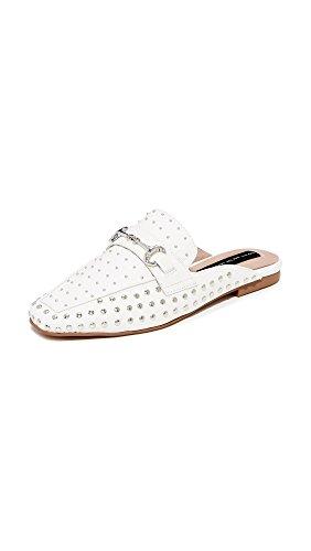STEVEN by Steve Madden Women's Razzi-s Slip-on Loafer, White Leather, 9 M US RAZZI-S