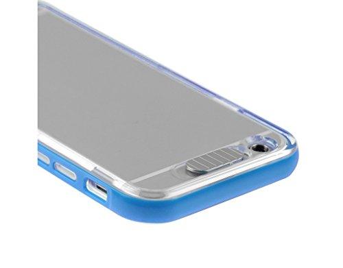 Fone-Stuff Apple iPhone 6 Plus Case LED - Case - flash de lumière d'appel entrant avec Crystal Clear voir à travers la couverture arrière dur et pare-chocs bleu Inclut un protecteur d'écran HD