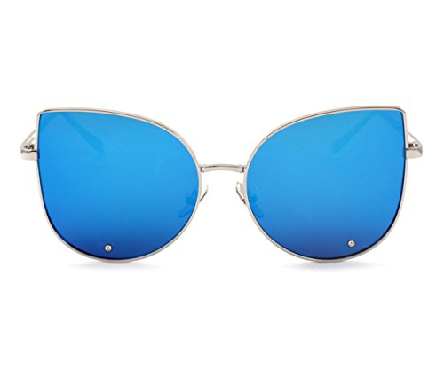 Heartisan Simple Full Mirror Cat Eye Anti-UV Sunglasses for Womens - Sunglasses 99 Cents
