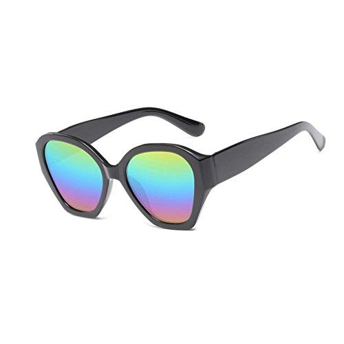 de irrégulière Lunettes de Colors film coloré hommes cadre tendance cadre pc Five matériel et soleil couleur lunettes GAOLIXIA soleil femmes lunettes 5fXdngwqXB