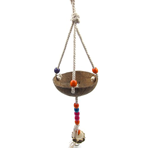 Alfie Pet by Petoga Couture - Frankie Coconut Shell Swing Toy for Birds