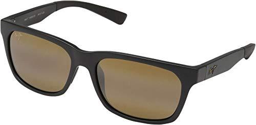 - Maui Jim Boardwalk H539-2M | Polarized Matte Black Rectangular Frame Sunglasses, HCL Bronze Lenses with Patented PolarizedPlus2 Lens Technology
