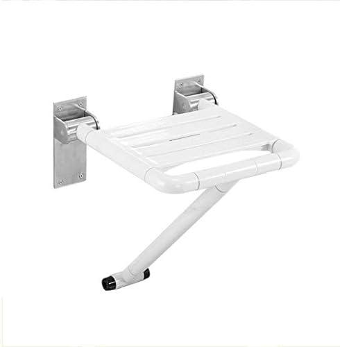 KXBYMX An der Wand montierter Sitz Komfortabler Duschklappsitz mit Flow Assist | -Weiß zur Wandmontage