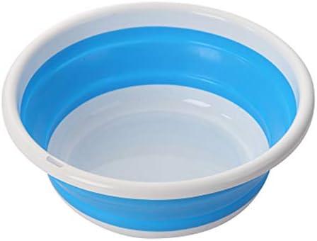 洗面器ポータブルラウンドフォールド厚い洗面器家庭用プラスチック浴室バスルームフットバス家庭用旅行用品新しくリリースされ人気