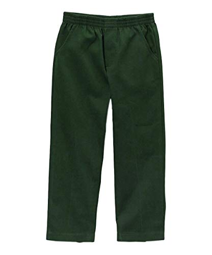 unik Boy's Uniform All Elastic Waist Pull-on Pants BU03 (Hunter Green, 6) ()