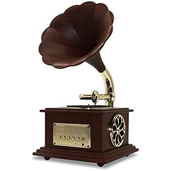 Amazon.com: YXYH - Tocadiscos de madera con bocina estéreo ...