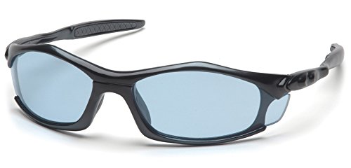 Pyramex Solara Safety Eyewear, Infinity Blue Lens With Black Frame