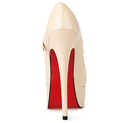 Pompes la Pour Soirée Slip de les Féminine Mariage la de Toe Main Peep YC Champagne Mode Stiletto Robe à L Chaussures Sur vOgqXz