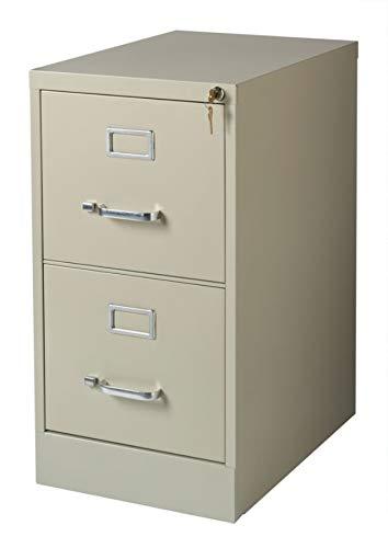 Realspace 22''D 2-Drawer Vertical File Cabinet, Putty