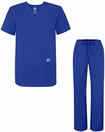 0415006330d Adar Universal Medical Scrubs Set Medical Uniforms - Unisex Fit (45 colors)