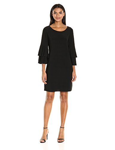 Laundry by Shelli Segal Women's Shift Dress with Knife Pleat Sleeves, Black, S from Laundry by Shelli Segal