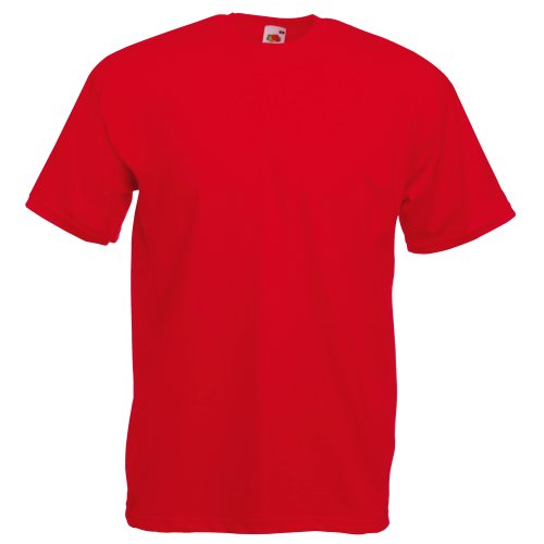 Fruit Of The Loom Mens Valueweight Short Sleeve T-Shirt (2XL) (Red) - 113 Rugby