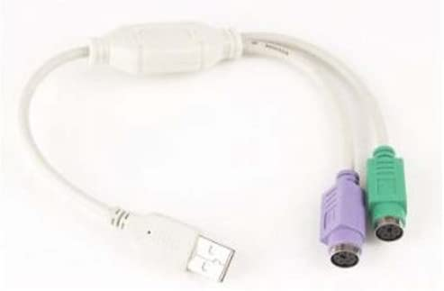Gembird UAPS12 - Cable conector USB a Dual PS/2 (0.3m)