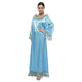Lea Blue Casual Jalabiya For Women