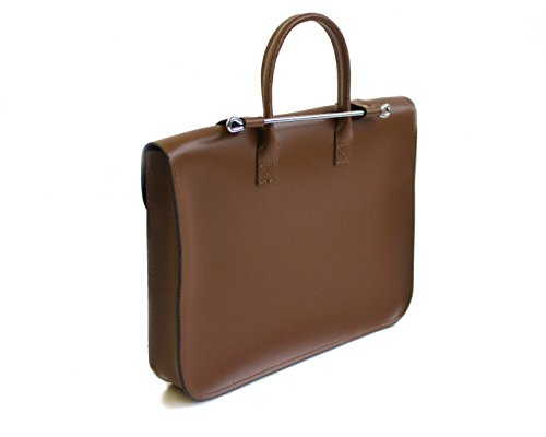 Colours Vintage Leather 7 Deluxe Or Case Brown Real Satchel Music Laptop Stylish red aggvq5wxA