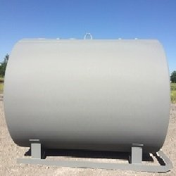 300 gallon single wall farm skid tank