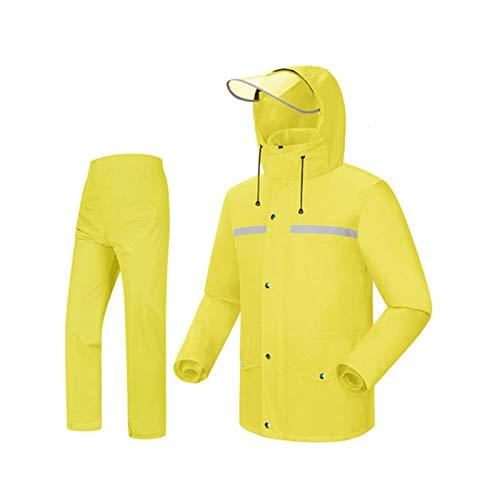 jaune Medium Ldwxxx Le Poncho imperméable de Manteau de Pluie de Manteau de Pluie de Costume de Manteau de Pluie de Mode Fendue, approprié au Camping Voyage Escalade en Montagne
