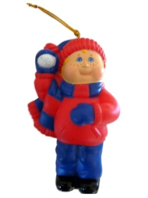 Cabbage Patch Kids Christmas Ornament Holiday Boy with Blonde Hair
