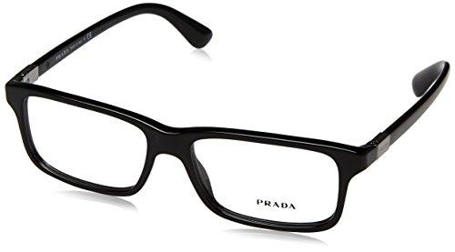 (Prada PR06SV Eyeglass Frames 1AB1O1-56 - Black PR06SV-1AB1O1-56)