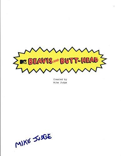 Mike Judge Signed Autographed Beavis and Butt-Head Pilot Episode Script COA VD (Best Beavis And Butthead Episodes)