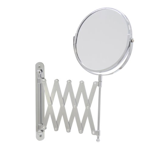 (Axxentia Bathroom 282802 Magnifying Wall Mirror Chrome Round 17 cm Diameter 3 times Magnification 57 cm)
