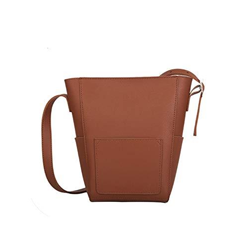 Ladies Crossbody Bags Retro Wild Handbags Women Bags Designer Bucket Shoulder Bags,Brown (Best Bagels In Ct)