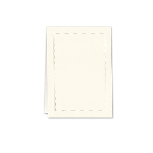 William Arthur Blind Embossed Ecru Beaded Border Table Card (B107035) Blind Embossed