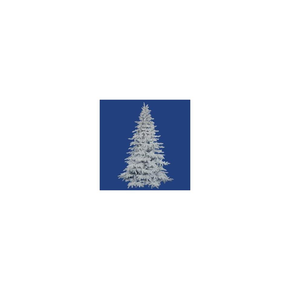 12 Vickerman A893690 Flocked White Spruce   Flocked White on White Christmas Tree