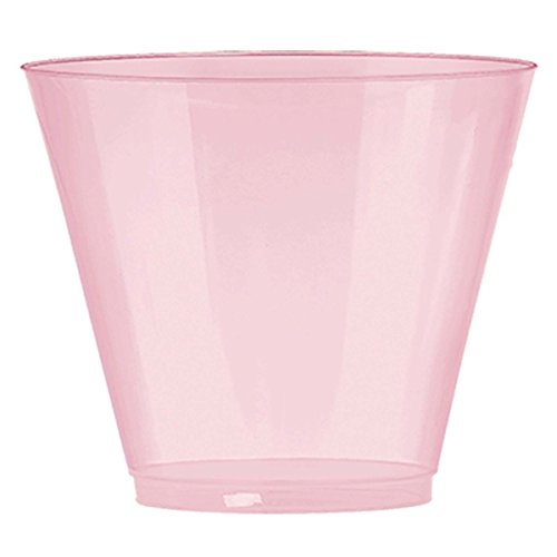 Amscan Pearl Pink Plastic Cups Big Party Pack, 9 Oz., 72 Ct.