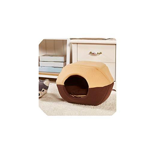 2 Ways Use Dog House Kennel Cute Fleece Dog Sofa Soft Warm Pet Funny Dogs Beds Dog Cushion Puppy Sofa Pet Product,Coffee,S