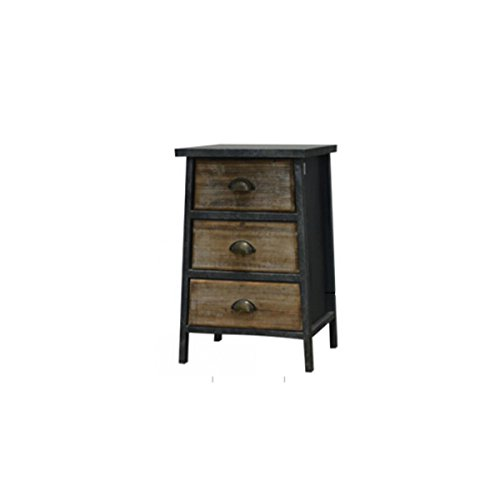 The Urban Port C217-123118 Antique Contemporary Three Drawer Cabinet by Urban Port (Decorative Storage Cabinet)