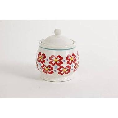 Pioneer Woman Flea Market Stoneware Sugar Bowl & Lid