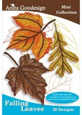 Anita Goodesign ~ Falling Leaves ~ Embroidery Designs CD (Leaf Embroidery Design)