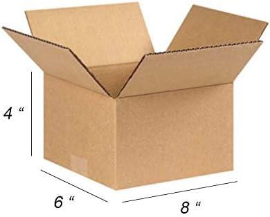 100 cajas de cartón para envío por correo, 20 x 15 x 10 cm, duraderas y perfectas para cualquier negocio en línea, precio de descuento a granel, Kraft (marrón): Amazon.es: Oficina y papelería