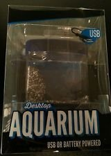 Desktop Aquarium USB or Battery powered Lighted Fish Tank Office Desk Table Top by cvsinc -
