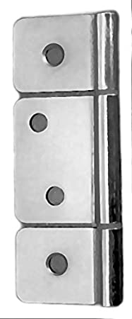 Chrome Plated 3-Leaf Bi-Fold /& Shutter Flag Hinge 3 1//2 10 10 Pairs DL-H545-350-CP
