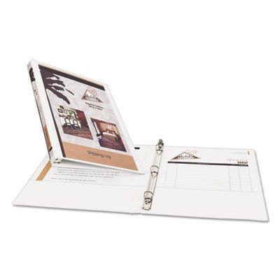 White Vinyl View Binder (Avery Products - Avery - Economy Vinyl Round Ring View Binder, 1/2