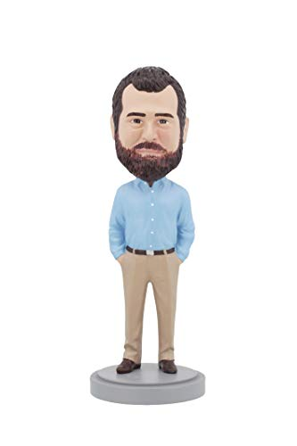 Casual Custom Bobble Head - Custom Bobbleheads - Older Business Casual Male Body - Personalized Gifts