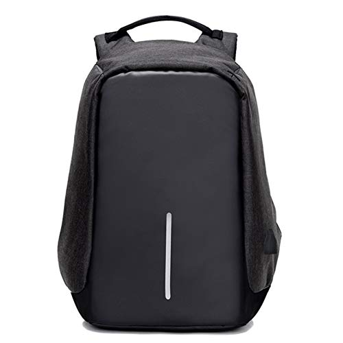Travel Laptop Backpack Business Anti Theft Casual Durable Bag with USB Charging Port,Waterproof College School Computer Bag for Women & Men (Black)